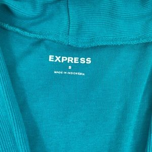 Express Tops - Express- Blue v-neck Top, cotton/modal, Small